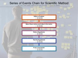 Series Of Events Chain For Scientific Method