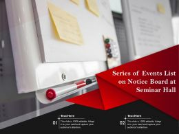 Series Of Events List On Notice Board At Seminar Hall