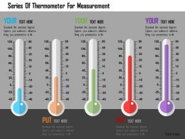 Series Of Thermometer For Measurement Flat Powerpoint Design