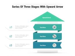 Series Of Three Stages With Upward Arrow