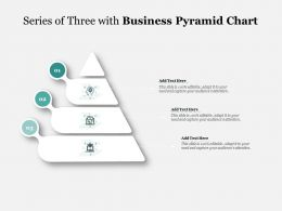 Series Of Three With Business Pyramid Chart