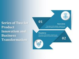 Series Of Two For Product Innovation And Business Transformation