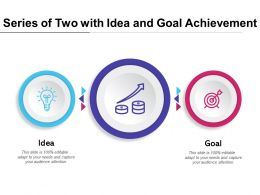 Series Of Two With Idea And Goal Achievement
