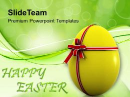 Sermon Easter Sunday Wish Happy With Surprise Egg Powerpoint Templates Ppt Backgrounds For Slides
