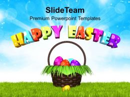 Sermon Easter Sunday Wish You Happy With Bright Theme Powerpoint Templates Ppt Backgrounds For Slides