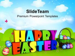 Sermon Easter Sunday Wishing Happy Wishes Powerpoint Templates Ppt Backgrounds For Slides