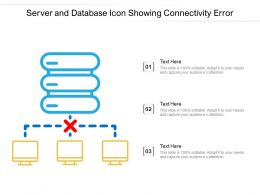 Server And Database Icon Showing Connectivity Error