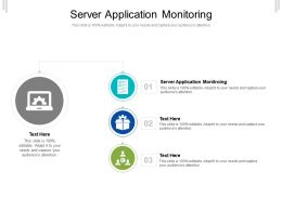 Server Application Monitoring Ppt Powerpoint Presentation Professional Design Ideas Cpb