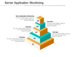 Server Application Monitroing Ppt Powerpoint Presentation Inspiration Maker Cpb