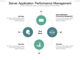 Server Application Performance Management Ppt Powerpoint Presentation Portfolio Format Cpb