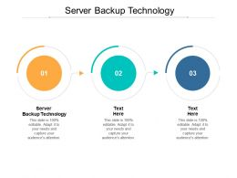 Server Backup Technology Ppt Powerpoint Presentation File Picture Cpb