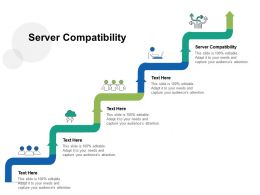 Server Compatibility Ppt Powerpoint Presentation Visual Aids Professional Cpb