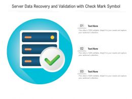 Server Data Recovery And Validation With Check Mark Symbol