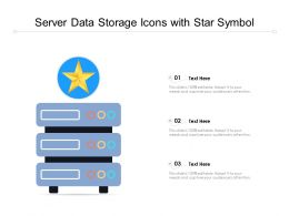 Server Data Storage Icons With Star Symbol