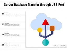 Server Database Transfer Through USB Port