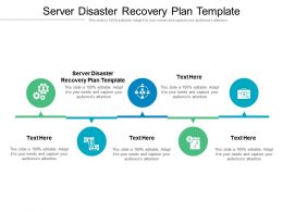 Server Disaster Recovery Plan Template Ppt Powerpoint Presentation Inspiration Cpb