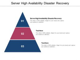 Server High Availability Disaster Recovery Ppt Powerpoint Presentation Summary Samples Cpb