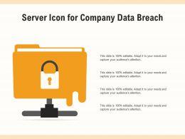 Server Icon For Company Data Breach