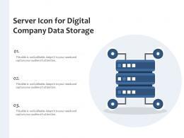 Server Icon For Digital Company Data Storage