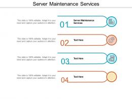 Server Maintenance Services Ppt Powerpoint Presentation Infographic Template Graphics Cpb
