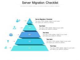 Server Migration Checklist Ppt Powerpoint Presentation Professional Influencers Cpb