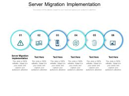 Server Migration Implementation Ppt Powerpoint Presentation Ideas Clipart Cpb