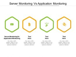 Server Monitoring Vs Application Monitoring Ppt Powerpoint Presentation Slides Background Image Cpb