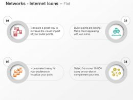 Server Network Database Management Communication Cycle Ppt Icons Graphics