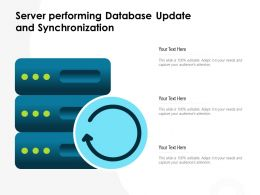 Server Performing Database Update And Synchronization
