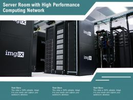 Server Room With High Performance Computing Network