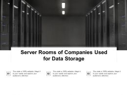 Server Rooms Of Companies Used For Data Storage
