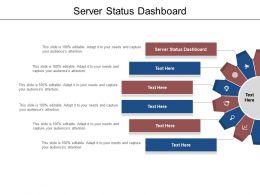 Server Status Dashboard Ppt Powerpoint Presentation Show Grid Cpb