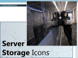 Server Storage Icons Network Technology Protection Database Symbol