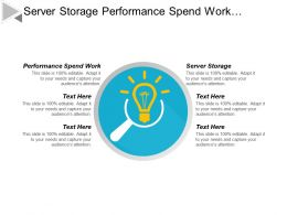 Server Storage Performance Spend Work Marketing Targeting Strategy