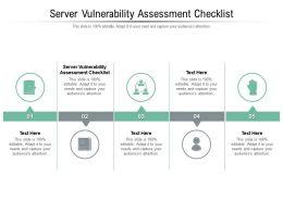 Server Vulnerability Assessment Checklist Ppt Powerpoint Presentation Styles Cpb