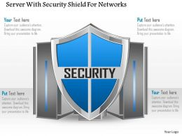 Server With Security Shield For Networks Ppt Slides