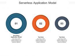 Serverless Application Model Ppt Powerpoint Presentation Infographics Vector Cpb