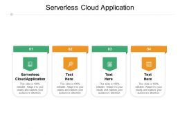 Serverless Cloud Application Ppt Powerpoint Presentation Infographics Inspiration Cpb