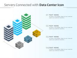 Servers Connected With Data Center Icon