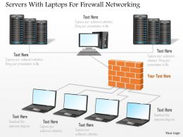 Servers With Laptops For Firewall Networking Ppt Slides
