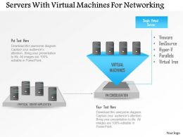 Servers With Virtual Machines For Networking Ppt Slides