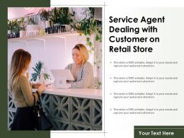 Service Agent Dealing With Customer On Retail Store