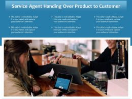 Service Agent Handing Over Product To Customer