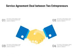 Service Agreement Deal Between Two Entrepreneurs