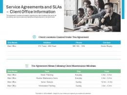 Service Agreements And SLAS Client Office Information Effective IT service Excellence Ppt Slides Portrait