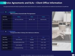 Service Agreements And SLAs Client Office Information Ppt Powerpoint Presentation Smartart