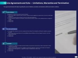 Service Agreements And SLAs Limitations Warranties And Termination Ppt Powerpoint Presentation Show