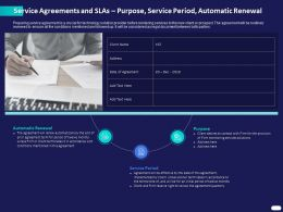 Service Agreements And SLAS Purpose Service Period Automatic Renewal Ppt Slides