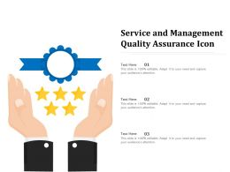 Service And Management Quality Assurance Icon
