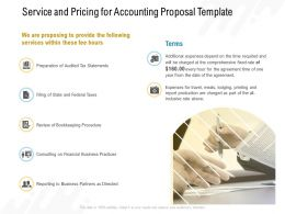 Service And Pricing For Accounting Proposal Template Ppt Powerpoint Presentation Slide